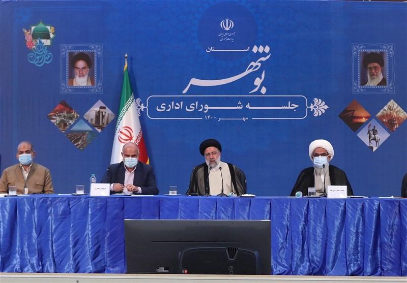 رئیس جمهور: کارخانه های آب شیرین کن در بوشهر به سرعت فعال شوند